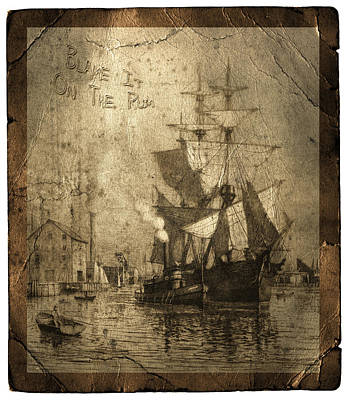 Blame It On The Rum Schooner Art Print by John Stephens
