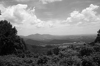 Photograph - Blue Ridge Mountains - Virginia Bw 2 by Frank Romeo