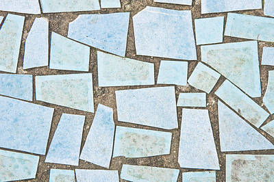 Blue Tiles Art Print by Tom Gowanlock