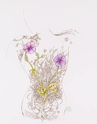 Mixed Media - Botanicalia Patricia by Karen Robey