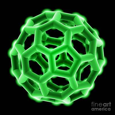 Buckminsterfullerene Molecule Art Print by Laguna Design