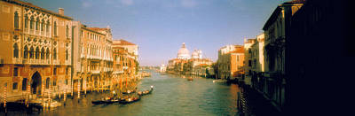 Domes Of Venice Photograph - Buildings Along A Canal, Grand Canal by Panoramic Images