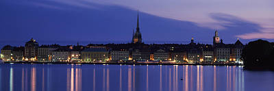 Gamla Stan Photograph - Buildings At The Waterfront, Lake by Panoramic Images