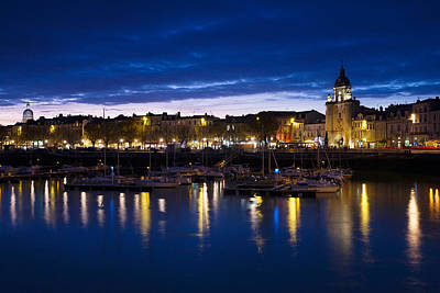 Buildings At The Waterfront Lit Art Print by Panoramic Images