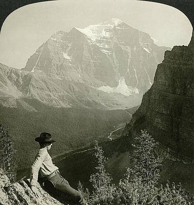 Climber Painting - Canada Rocky Mountains by Granger