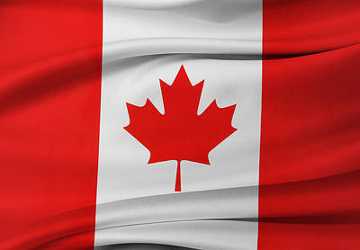 Canadian Flag Art Print by Les Cunliffe