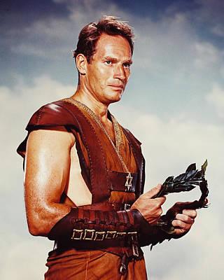 Ben Hur Photograph - Charlton Heston In Ben-hur  by Silver Screen