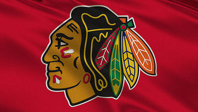 Stick Photograph - Chicago Blackhawks Uniform by Joe Hamilton