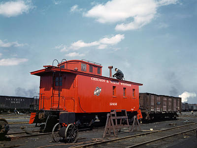 Chicago Railroad, 1943 Art Print
