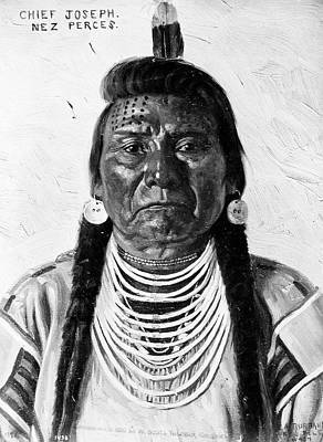 Painting - Chief Joseph (1840-1904) by Granger