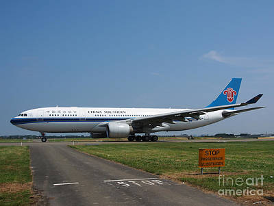 Klm Photograph - China Southern Airlines Airbus A330 by Paul Fearn