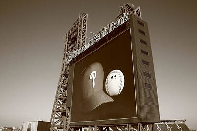 Baseball Mural Photograph - Citizens Bank Park - Philadelphia Phillies by Frank Romeo
