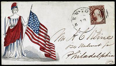 Civil Liberties Drawing - Civil War Letter, C1863 by Granger