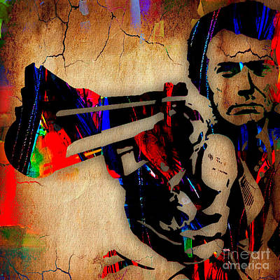 Clint Eastwood Collection Art Print