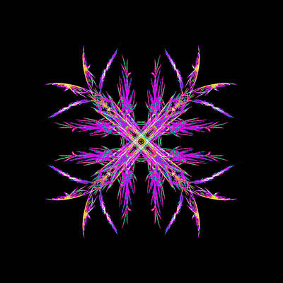 Lucille Ball Royalty Free Images - Colorful Crystalline Snowflake Royalty-Free Image by Bruce Nutting