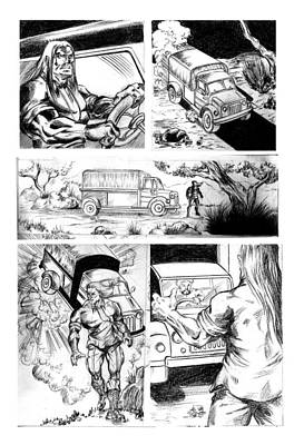 Mixed Media - Comic Page by Abhishek Vishwakarma