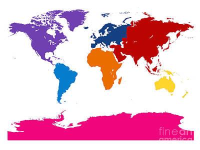 Digital Art - 7 Continents by Jackie Farnsworth