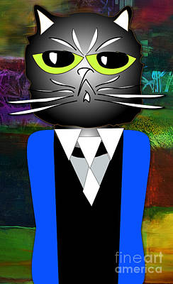 Cool Cat Art Print by Marvin Blaine