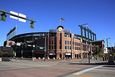 Baseball Mural Photograph - Coors Field - Colorado Rockies by Frank Romeo