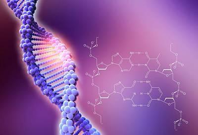 Crispr-cas9 Gene Editing Art Print by Alfred Pasieka/science Photo Library