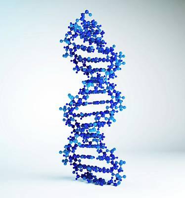 Dna Molecule, Artwork Art Print by Andrzej Wojcicki