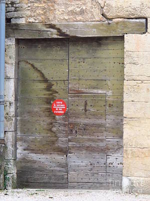Target Threshold Nature - Door in Beaune France by Luis Moya