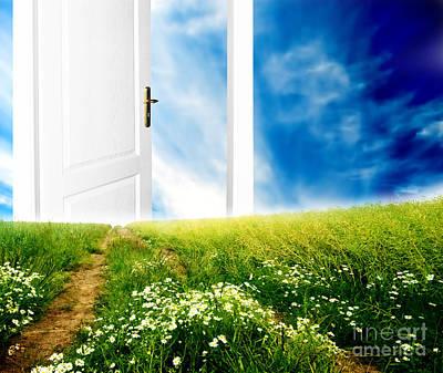 Open Door Photograph - Door To New World by Michal Bednarek