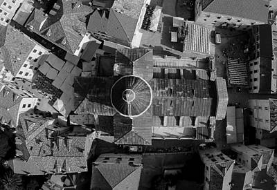 Animal Surreal - Dubrovnik - Fine Art Aerial Photograph by Aston Pershing
