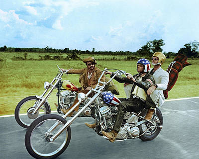Easy Rider  Art Print by Silver Screen