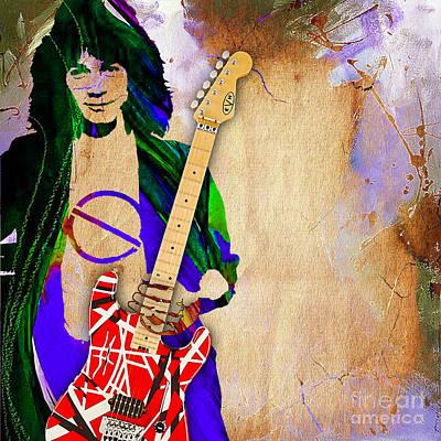 Van Halen Mixed Media - Eddie Van Halen Special Edition by Marvin Blaine