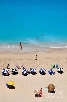 Tanning Painting - Egremni Beach by George Atsametakis