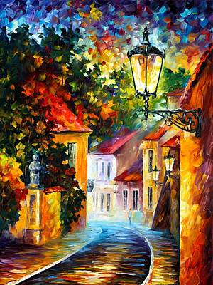 Owner Painting - Evening by Leonid Afremov