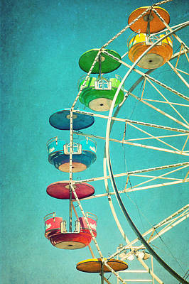 Photograph - Ferris Wheel by June Marie Sobrito