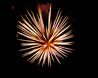 Fire Works On The Fourth Of July Art Print by Larry Stolle