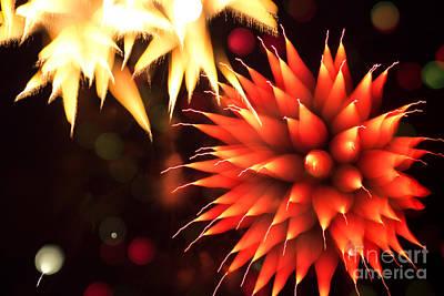 Fireworks Art Art Print by Benjamin Simeneta