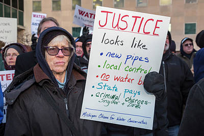 Flint Drinking Water Protest Art Print by Jim West