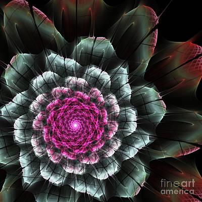 Digital Art - Fractal Flower by Martin Capek