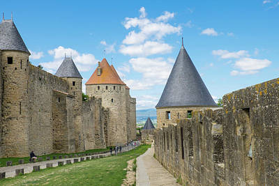 Carcassonne Photograph - France, Languedoc-roussillon, Ancient by Emily Wilson