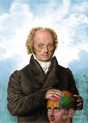 Franz Joseph Gall, German Phrenologist Art Print by Science Source