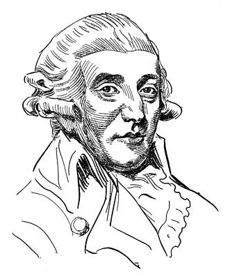 Lapel Drawing - Franz Joseph Haydn (1732-1809) by Granger