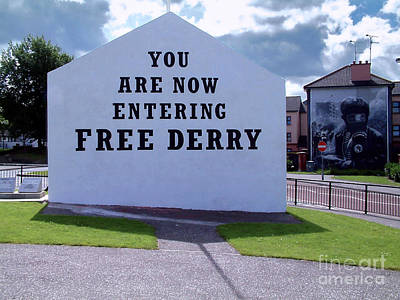 Photograph - Free Derry Corner 4 by Nina Ficur Feenan