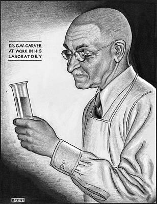 George Washington Carver Drawing - George Washington Carver (1864-1943) by Granger