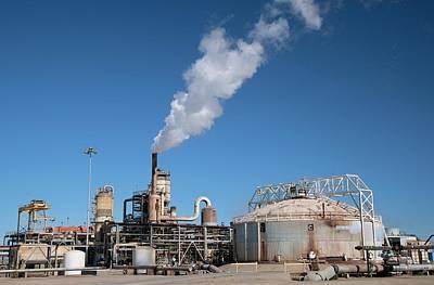 Geothermal Power Plant Art Print