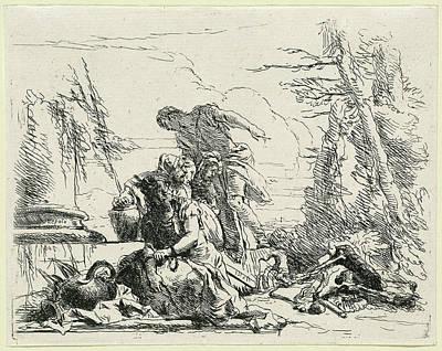 Giovanni Battista Tiepolo, Italian 1696-1770 Art Print by Litz Collection