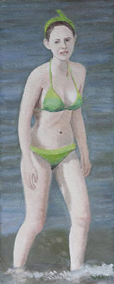 Painting - Green Bikini by Masami Iida