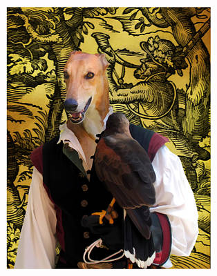 Painting - Greyhound Art Canvas Print by Sandra Sij