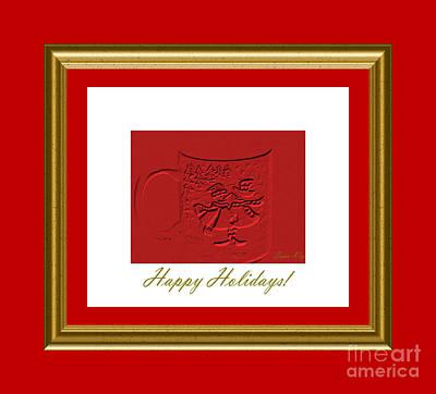 Glass Art - Happy Holidays  by Oksana Semenchenko
