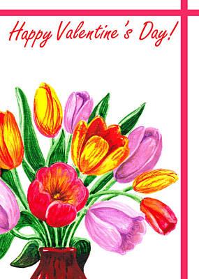 Garden Fruits - Happy Valentines Day by Irina Sztukowski