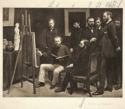 Atelier Drawing - Henri Fantin-latour French by Litz Collection