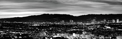High Angle View Of A City At Dusk Art Print by Panoramic Images